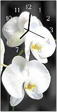 DekoGlas Glasuhr 'Orchidee Mehrfarbig' Uhr