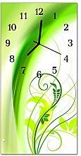 DekoGlas Glasuhr 'Pflanze Grün' Uhr aus
