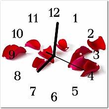 DekoGlas Glasuhr 'Rosenblüten rot' Uhr
