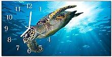 DekoGlas Glasuhr 'Schildkröten