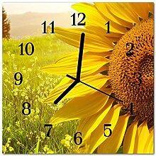 DekoGlas Glasuhr 'Sonnenblume gelb' Uhr