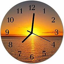 DekoGlas Glasuhr 'Sonnenuntergang orange'