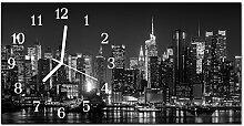 DekoGlas Glasuhr 'Stadt Grau' Uhr aus