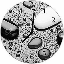 DekoGlas Glasuhr 'Steine schwarz' Uhr aus