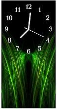 DekoGlas Glasuhr 'Weg Grün' Uhr aus