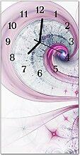 DekoGlas Glasuhr 'Wirbel Lila' Uhr aus
