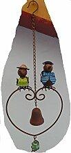 Dekohänger Vogelpaar mit Glocke Windspiel