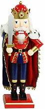 Dekohelden24 Hochwertiger Nussknacker als König