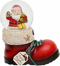 Dekohelden24 Nikolausstiefel mit Schneekugel,