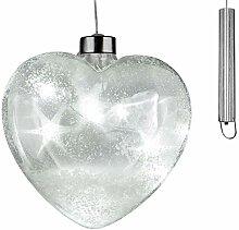 dekojohnson Christbaumdeko LED-Glas-Herz mit