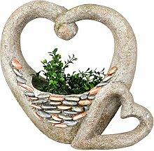 dekojohnson Gartendeko Herz Blumentopf Rustikal