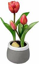 dekojohnson Künstlich blühende Tulpen im Topf