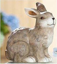 dekojohnson Trendiger Dekohase Osterhase Keramik