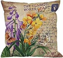 Dekokissen Abdeckung Freesia Blume Mit Vintage