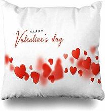 Dekokissen Abdeckung Gruß Happy Valentines Day