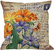 Dekokissen Abdeckung Iris Blume Mit Vintage