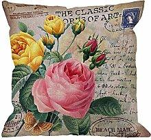 Dekokissen Abdeckung Rosen Blume Mit Vintage