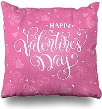 Dekokissen Abdeckung Tag Herz Happy Valentines