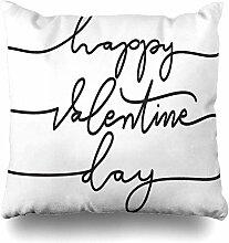 Dekokissen Abdeckung Valentine Alphabet Happy Day