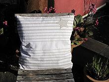 Dekokissen Alcea Stern dunkel 40 x 40 cm