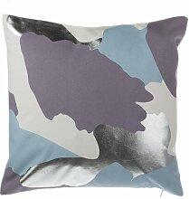 Dekokissen Burkey Ebern Designs Farbe: Lila/Silbern