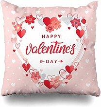 Dekokissen Cover Art Herz Happy Valentines Day