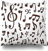 Dekokissen Cover Note Musikalische Musik
