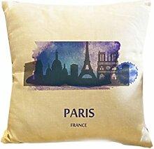 Dekokissen Fall Home Office Aufkleber Home Hotel Textil Geschenk Kissen Fall Abdeckung Paris