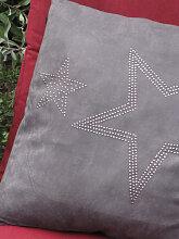 Dekokissen mit zwei Sternen, 40 x 40 cm