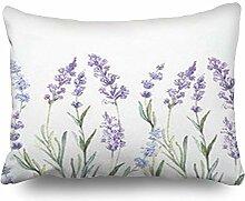 Dekokissenbezüge Aquarell Lavendel Aquarellvektor