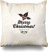 Dekokissenbezüge Eleganz Stechpalme Weihnachten