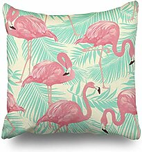 Dekokissenbezüge Flamingo Bird Tropical Palm