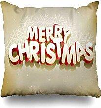 Dekokissenbezüge Klassische Weihnachten Frohe