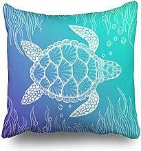 Dekokissenbezüge Sea Turtle Line Style Hand