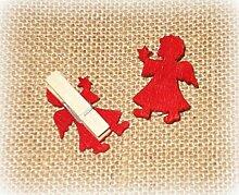 Dekoklammer 'Engel' aus Holz rot 6er-Se