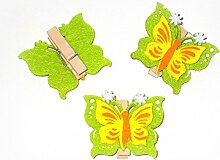 Dekoklammer 'Schmetterling' aus Filz 6er-Se