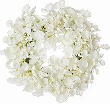 Dekokranz Flowers white 26cm, 26 × 7 × 62 cm