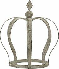 Dekokrone Landhaus shabby grau Metall 18x27x30