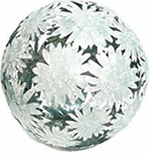 Dekokugel Blume Gerbera 24 cm Metall Zink