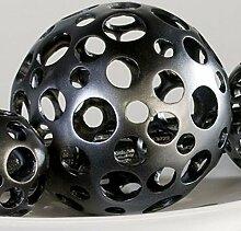 Dekokugel Dekoration Kugel Holes anthrazit 15 cm