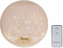 Dekokugel Glas,mit 40 LED