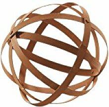 Dekokugel Kugel aus Metall Rostkugel Gartenkugel Metalldekoration 25 cm