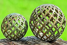 Dekokugel Kugel Bathi Aluminium grün Gartendeko