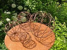 Dekokugel Ornament, filigran (Kugel Rost: 10 cm