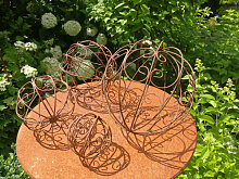 Dekokugel Ornament, filigran (Kugel Rost: 15 cm