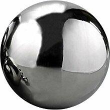 Dekokugel Set Silberkugel, Polierte Edelstahl
