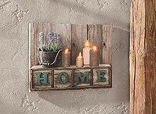 "Dekoleidenschaft LED-Bild ""Home"", flackernde"