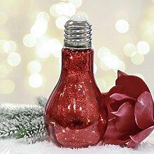 Dekoleuchte Glühbirne Glas rot Lichterkette 10