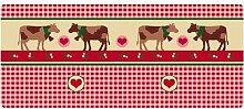 Dekolust Küchenläufer 120x50 cm Country Cows