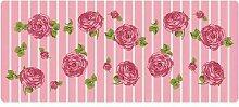 Dekolust Küchenläufer 120x50 cm Rosen Fußmatte